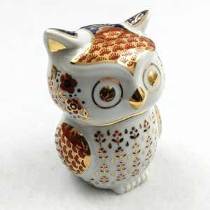 Other - Hand Painted Owl Decor Made in Japan